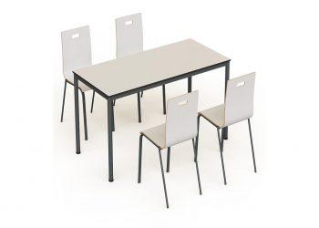 Kontra Monoblok Sandalyeli Compact Yemekhane Masa Takımı