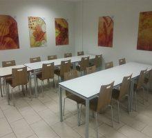 Kontra Monoblok Sandalyeli Yemekhane Masa Takımı