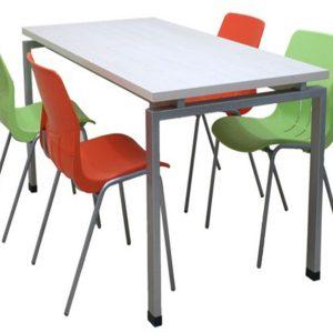 Monoblok Sandalyeli Yemekhane Masa Takımı1