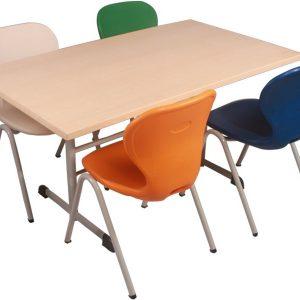 Monoblok Sandalyeli Yemekhane Masa Takımı2